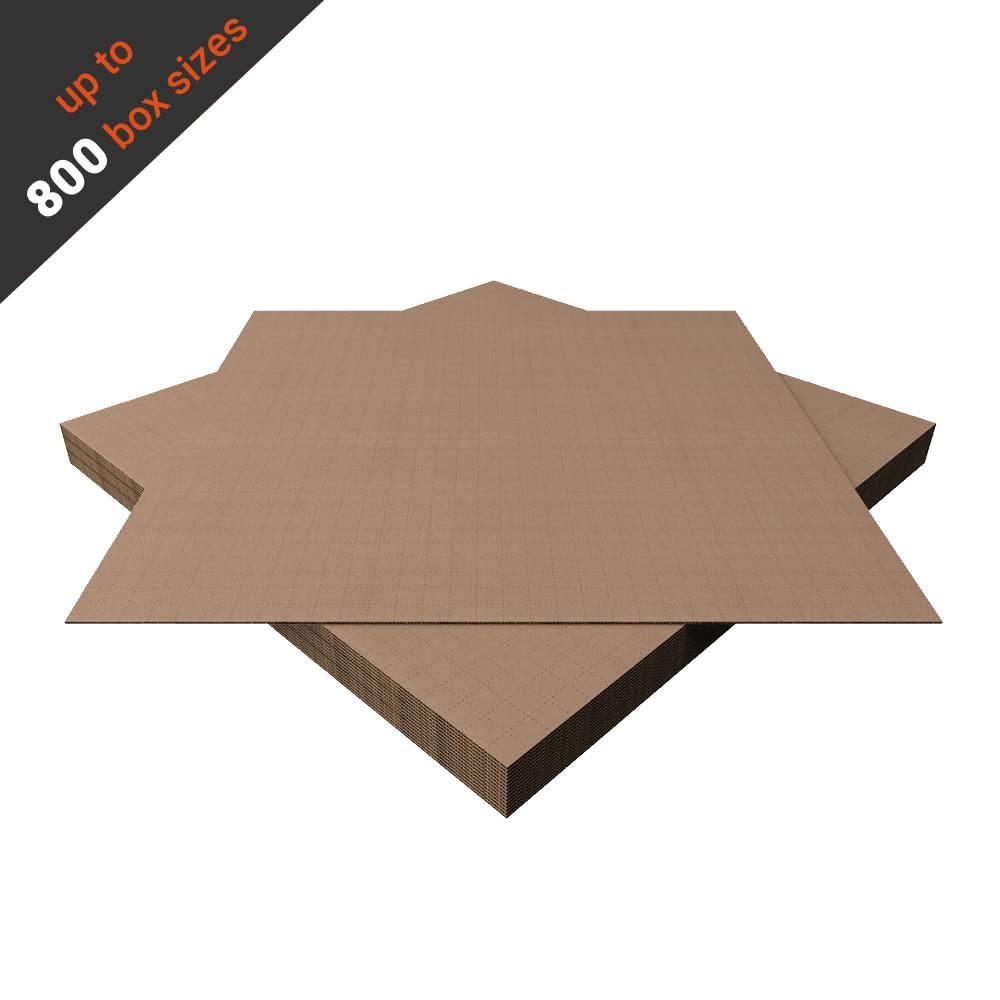 Cardboard Sheets for Folding Shipping Box Overseas 80x80cm (10 pcs) With Self-Adhesive Tape